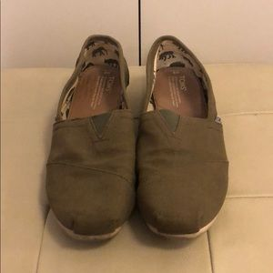TOMS Olive Green Classic Canvas Shoes